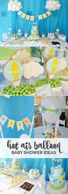 Boy's Hot Air Balloon Party Theme