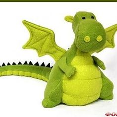 I'll have to brush up on my Russian first...Free pattern stuffed animal: dragon.  Save image of pattern to your computer to print