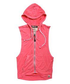 Look what I found on #zulily! Pink & White Beat Sweet Headphone Tank Hoodie by HBsuper by HoodieBuddie #zulilyfinds