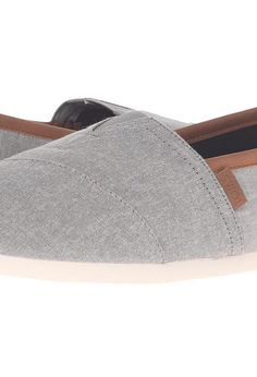 TOMS Chambray Classics (Frost Grey Chambray 2) Men's Slip on  Shoes - TOMS, Chambray Classics, 10008337-020, Footwear Closed Slip on Casual, Slip on Casual, Closed Footwear, Footwear, Shoes, Gift, - Fashion Ideas To Inspire
