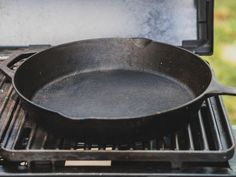 Next time you have a barbecue, try cooking burgers in a cast-iron skillet… on the grill. Here's why.