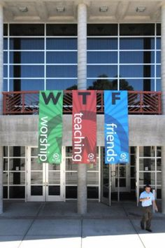 I've often had this reaction to some church banners, but you'd think there would be at least one person attending that church who could explain to them what WTF is commonly assumed to s… Church Signs, Church Banners, Epic Fail, Funny Images, Funny Photos, Hilarious Pictures, Advertising Fails, Church Humor, Church Memes