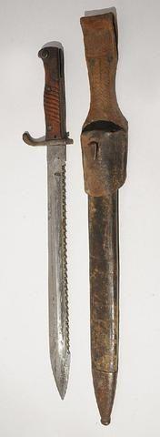 PRUSSE. Baïonnette de pionnier, modèle 1898/05 à dents de scie,