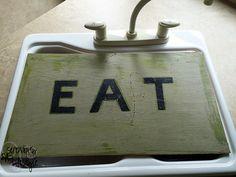 Homemade cutting board.