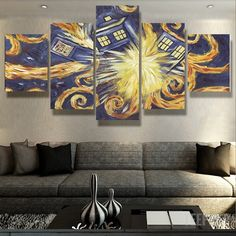 Doctor Who Van Gogh 5 Piece Canvas