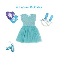 Frozen Birthday Party Outfit #frozen #elsa #birthday #kidsfashion