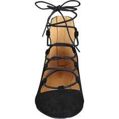 Signmeup Gladiator Flats (9420 RSD) ❤ liked on Polyvore featuring shoes and flats