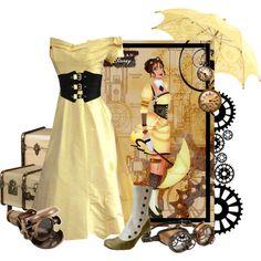 """Jane - Steampunk - Disney's Tarzan"" by rubytyra on Polyvore"