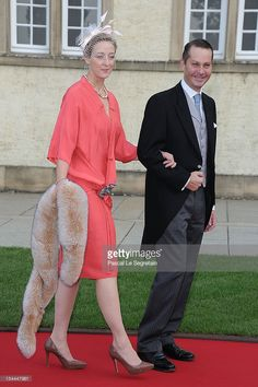 Princess Alexandra of Sayn-Wittgenstein-Berleburg and Count Jefferson von Pfeil und Klein-Ellguth (R) attend the wedding ceremony of Prince Guillaume Of Luxembourg and Princess Stephanie of Luxembourg at the Cathedral of our Lady of Luxembourg on October 20, 2012 in Luxembourg, Luxembourg. The 30-year-old hereditary Grand Duke of Luxembourg is the last hereditary Prince in Europe to get married, marrying his 28-year old Belgian Countess bride in a lavish 2-day ceremony. (Photo by Pascal Le…
