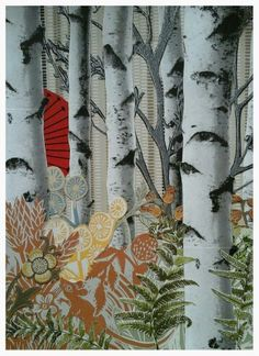 Botanical Dimensions 4 (forest gathering) - wallpaper collage by Andy Parker