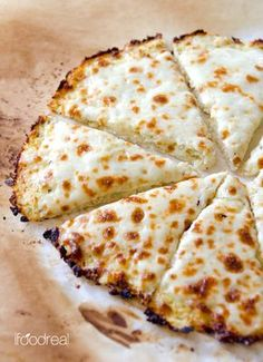 Cauliflower Pizza Crust - Low carb, low calorie and gluten free cauliflower crust pizza that can take on any of your favourite toppings. Foolproof & delicious low carb meal recipe.