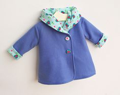 HEARTS Jacket pattern sewing PDF download Easy Hooded by PUPERITA, $6.00