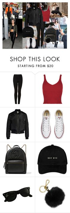 """yjfuykyu"" by horan-69 on Polyvore featuring мода, Veja, Topshop, Sans Souci, Converse, Gucci, Ray-Ban и MICHAEL Michael Kors"