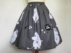 Moomin Skirt With Net Underskirt All Sizes Available Made To Order Rockabilly Kawaii Unique