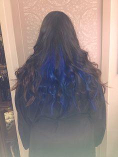 Hair color blue electric