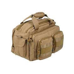 32f6682e63e10 Lancer Tactical CA-980 MOLLE Padded Pistol Case Shooting Range Bag - Tan  Review