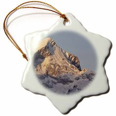 3dRose orn_137288_1 Wetterstein Mountains, Alpspitze Peak, Germany-Eu10 Mzw0022-Martin Zwick-Snowflake Ornament, 3-Inch, Porcelain => Insider's special offer that you can't miss : Christmas Ornaments