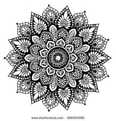 Mandalas for coloring book. Mandalas pour ca Mandala Doodle, Mandala Art Lesson, Mandala Artwork, Mandala Painting, Doodle Art, Croquis Mandala, Mandalas Drawing, Mandala Coloring Pages, Yoga Logo