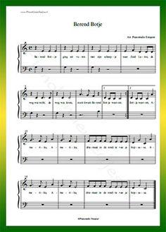 Berend Botje ging uit varen - Gratis bladmuziek van kinderliedjes in eenvoudige zetting voor piano. Piano leren spelen met bekende liedjes.
