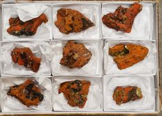 9 Piece Adamite Specimen Half Flat Ojuela Mine Mapimi Durango Mexico