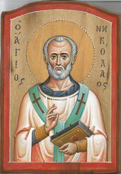 Άγιος Νικόλαος / Saint Nicholas Nicolaus, Old Fashion Christmas Tree, Retro, Art, Byzantine Icons, Saint Nicholas, Travel Tattoo, Zelda Characters