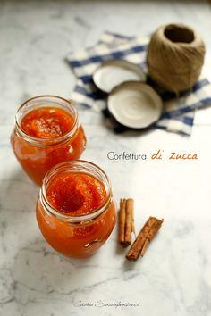 Confettura di zucca e cannella Biscuit Cake, Italian Desserts, Chutney, I Foods, Nutella, Creme, Jelly, Sweet Treats, Food Porn