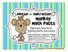 Addition & Subtraction Flashcards 0-18, Timed Tests 0-18 from Celebrating 2nd Grade on TeachersNotebook.com (47 pages)
