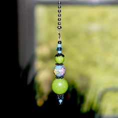 Handcrafted Lampwork Glass Bead Ceiling Fan Chain Pull #26