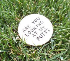 laser cut golf putt marker