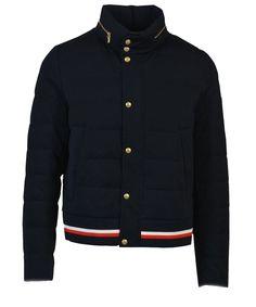 MONCLER Moncler Men'S Blue Wool Outerwear Jacket'. #moncler #cloth #coats & jackets