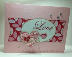 Valentines/Love card using Follow My Heart and Language of Love from the Stampin' Up! 2014 spring Occasions mini catalog by Emily Mark SU demo Montreal. www.southshorestamping.com (CCMC287)