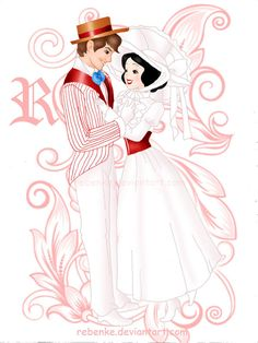 Snow White and Prince as Mary Poppins and Bert - disney Photo