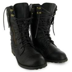 48H Ladies Brown Buckle Army Military Boots Size 3-8 Uk - Military boot