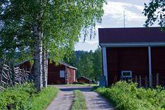 Maalaismaisema kesäiltana, Pöykkölä Rovaniemi by Aili Alaiso,Finland