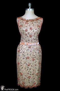 1950 Gold Lamé dress