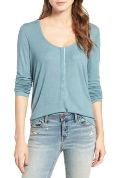 Hinge Ribbed Henley Top available at #Nordstrom