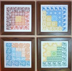 Newest design series - Four Seasons Log Cabin Quilt Patterns done in Cross…