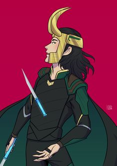 Loki from Thor: Ragnarok Request for my friend!! by k-noppa.tumblr