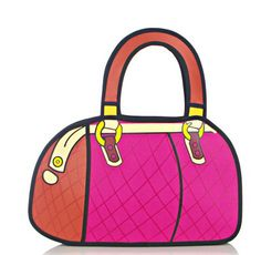 3D Jump Style 2D Drawing From Cartoon Paper Tote Bag Handbags Comic Satchel gift | eBay