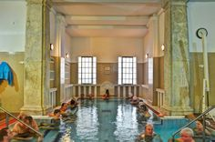 Swimming in snowfall – the Saint Luke's bath of Budapest Have you ever swimmed in a pool, while snowflakes were falling out of the sky? When you are in Budapest at wintertime, do not miss the feeling. Budapest Thermal Baths, Winter Time, Swimming, Swim