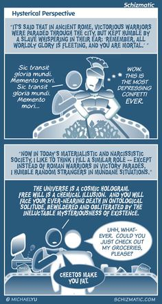 """""""Hysterical Perspective"""" -- Image: http://schizmatic.com/files/hysterical_perspective.jpg  -- Page: http://schizmatic.com/comics/66 -- Schizmatic: A Webcomic Of Intelligent Weirdness"""