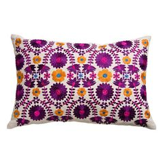 Mexicana Pillow // gorgeous!! Tangerine and electric purple... Mmmm.