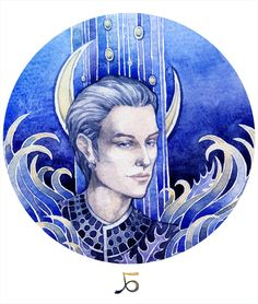 12 signs of the zodiac, you can see all the pictures in a folder: Watercolor and watercolor pencils.