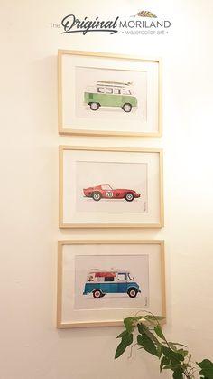 Sports Car Print Classic Sports Car Race Car Wall Art Car Decor Transportation Wall Art Automobile Art Car Printable Boy Bedroom Art