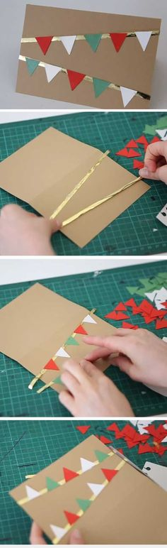Festive Bunting | 20 + DIY Christmas Cards for Kids to Make