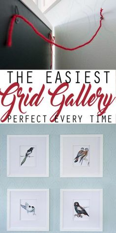 How to create a perfect grid gallery wall and hanging the pictures in flawless alignment is easy with these tips! - DIY and Crafts Funky Home Decor, Diy Home Decor, Farmhouse Wall Art, Diy Wall Art, Wall Decor, Room Decor, Hanging Pictures, Affordable Home Decor, Wall Art Designs