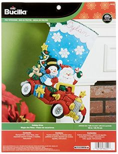 Bucilla 18Inch Christmas Stocking Felt Applique Kit 86451 Holiday Drive >>> See this great product. This Amazon pins is an affiliate link to Amazon.