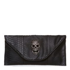 Skull Clutch - Black