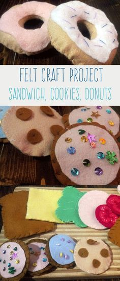 Make your own food out of felt with Pretend Play