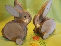 – Osterdeko – Ostern – Mit Liebe h …. – Easter decoration – Easter – With love h … – Future projects – Wood Log Crafts, Wood Slice Crafts, Spring Crafts, Holiday Crafts, Diy Ostern, Wooden Animals, Wood Creations, Wood Slices, Nature Crafts